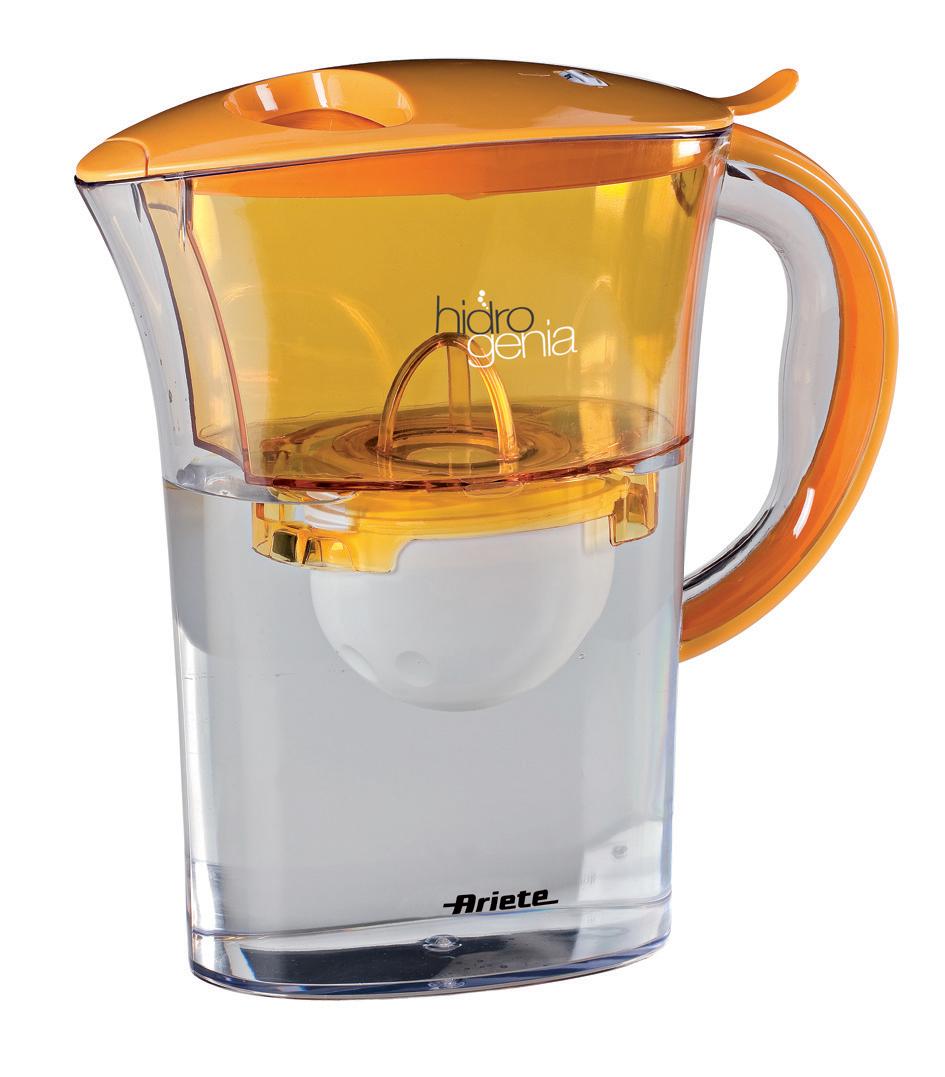 Caraffa Filtrante Basic Hidrogenia 140 arancio