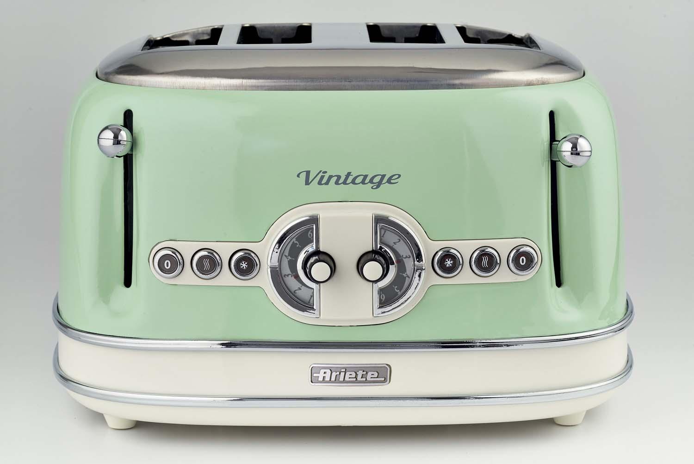 Toaster vintage 4 fette verde ariete for Tostapane ariete vintage